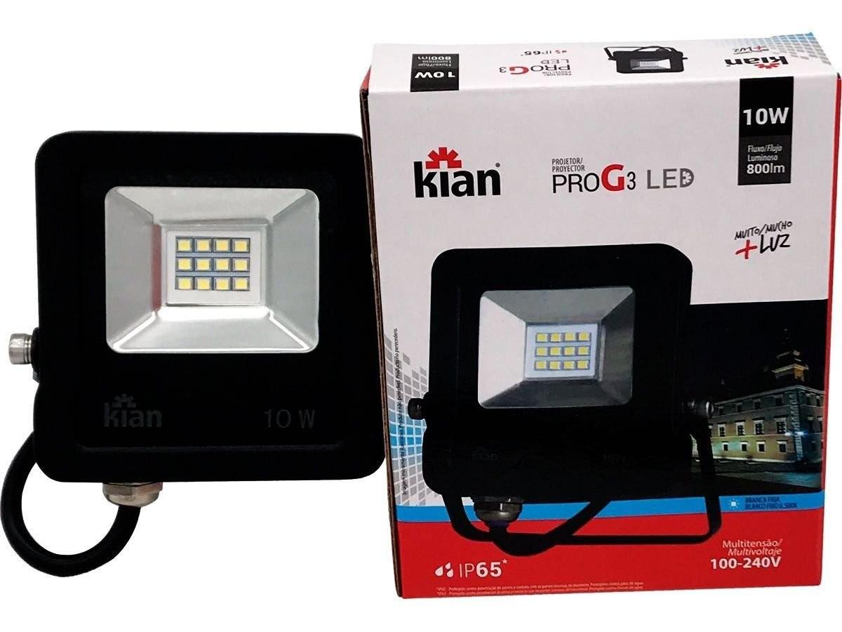 Foto 1 - REFLETOR LED 10W KIAN/IMPORTADO