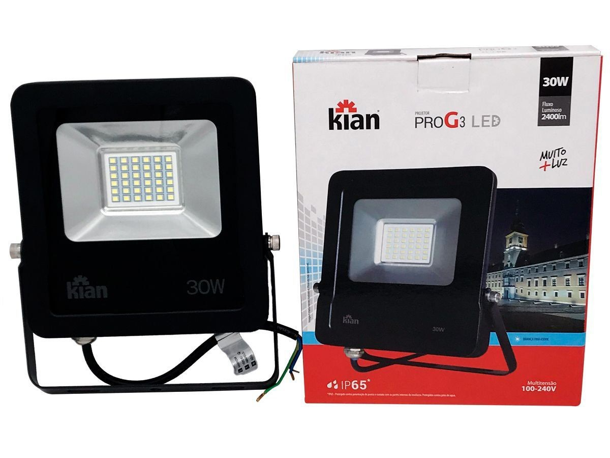 Foto 1 - REFLETOR LED 30W KIAN/IMPORTADO
