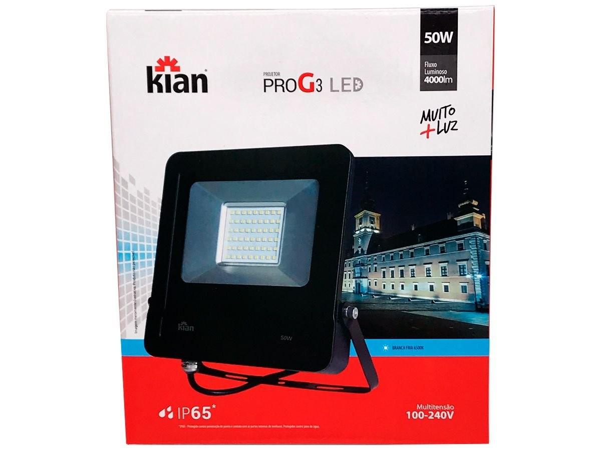 Foto 1 - REFLETOR LED 50W KIAN/IMPORTADO