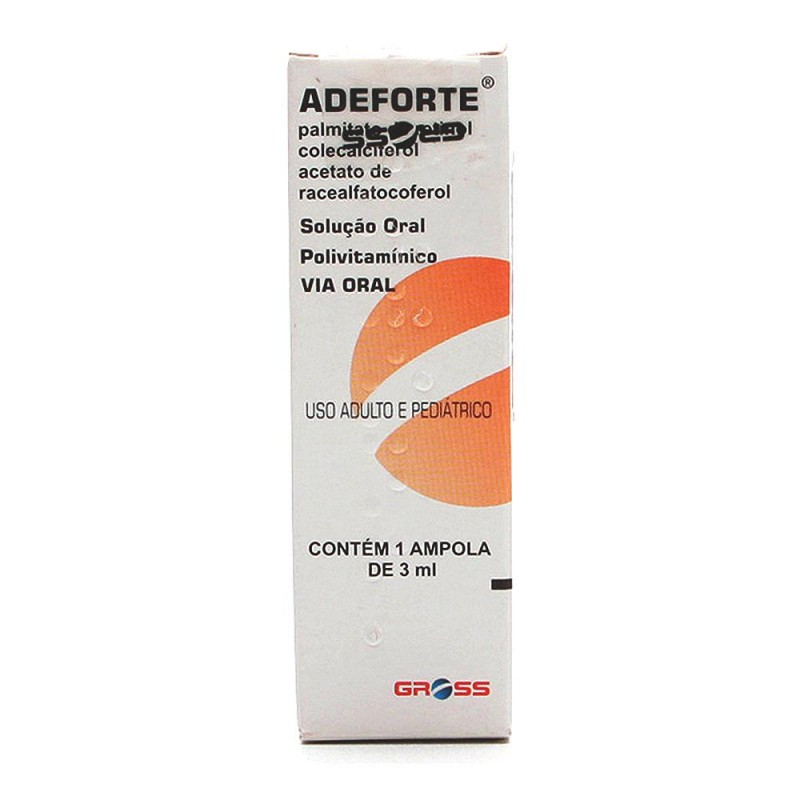 Foto 1 - Adeforte oral com 1 âmpola de 3 ml