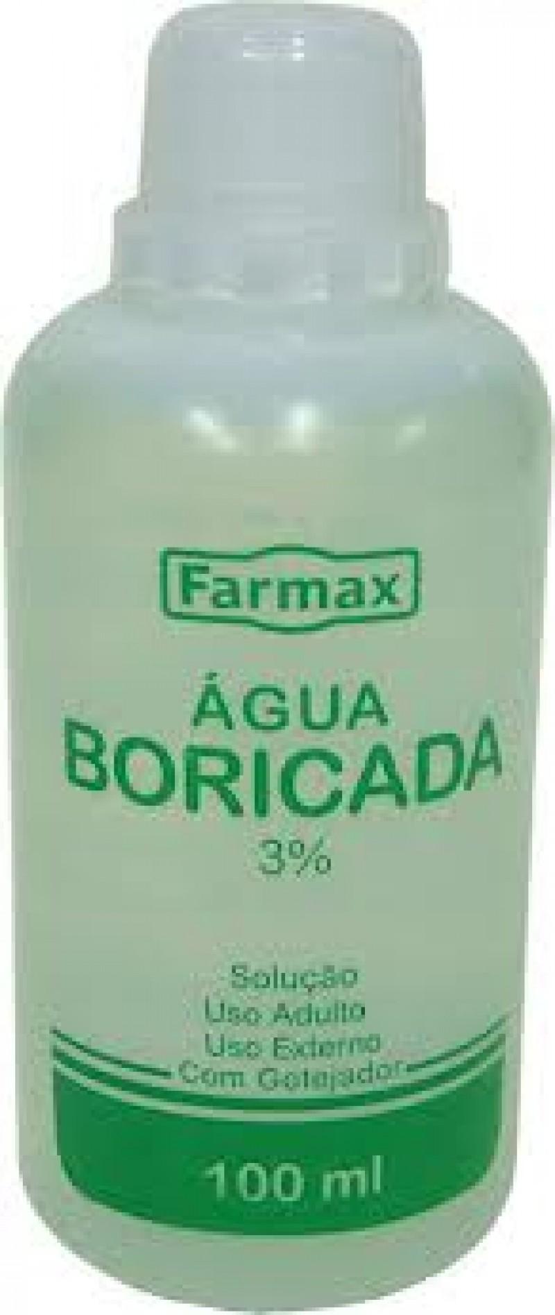 Foto 1 - Água Boricada com Gotejador Farmax 100ml