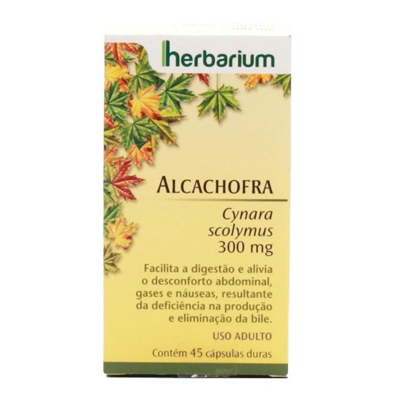 Foto 1 - Alcachofra herbarium 300 mg com 45 cápsulas