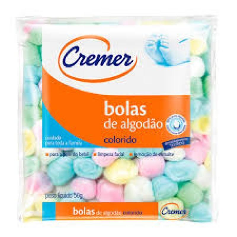 Foto 1 - Algodão Cremer Bolas Coloridas Macio e Extra Absorvente 50 gramas