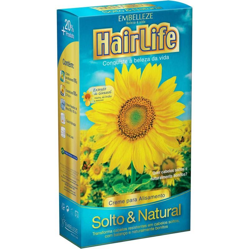Foto 1 - Alisante Hair Life Solto e Natural com Manteiga de Karité Creme 160 gramas