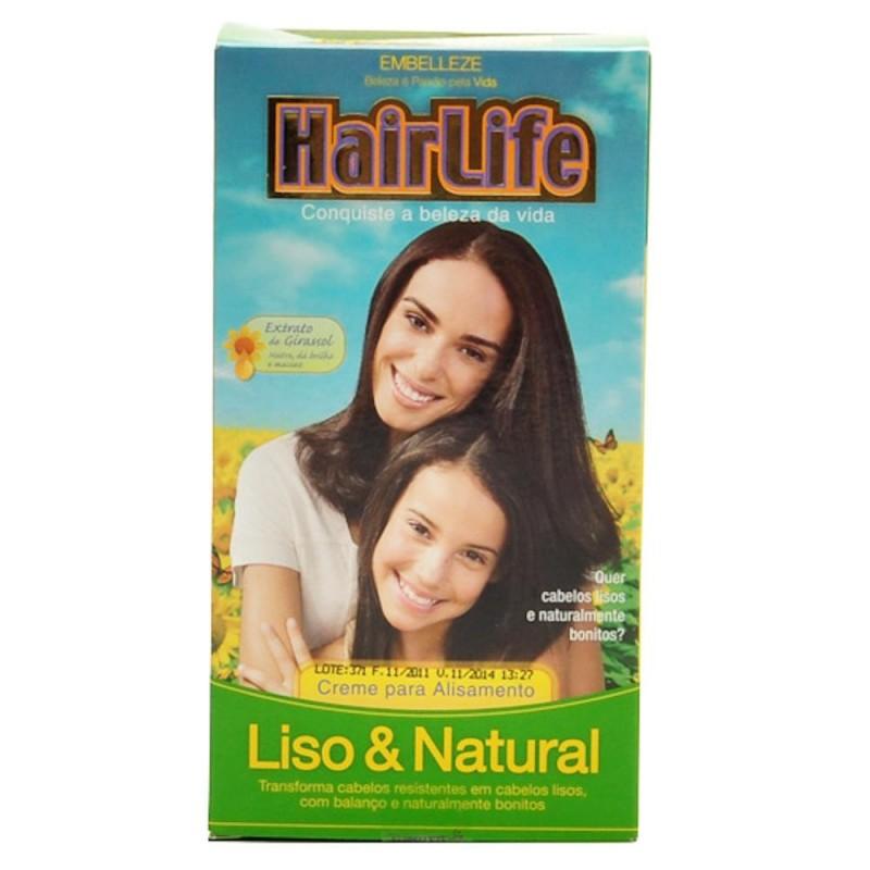Foto 1 - Alisante Hair Life Liso e Natural com Manteiga de Karité Creme 180 gramas