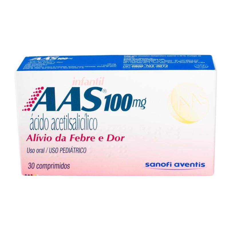 Foto 1 - Aas infantil sanofi 100 mg com 30 comprimidos