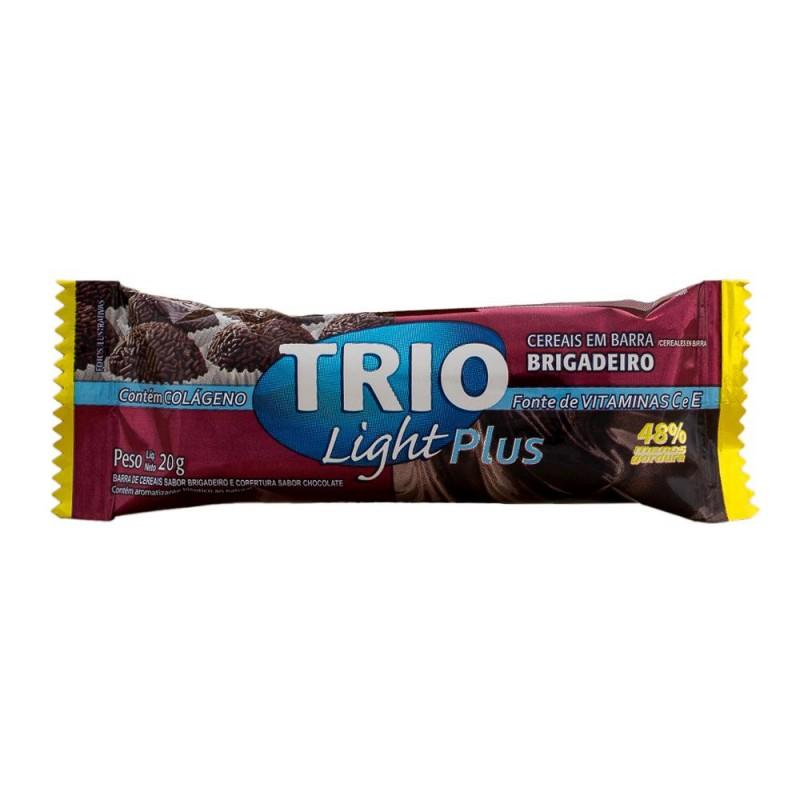 Foto 1 - Barra de Cereais Trio Brigadeiro Light com Cobertura de Chocolate 25 gramas