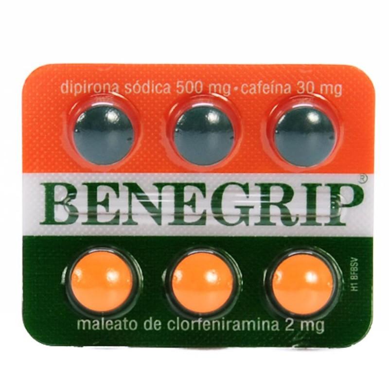 Foto 1 - Benegrip com 6 comprimidos