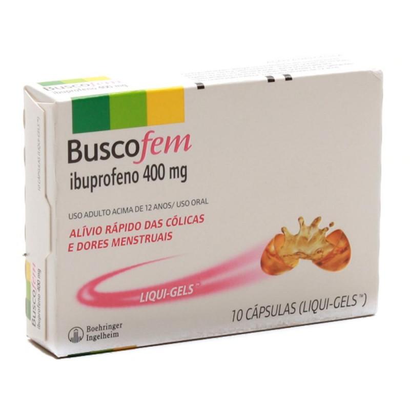 Foto 1 - Buscofem 400 mg com 10 cápsulas
