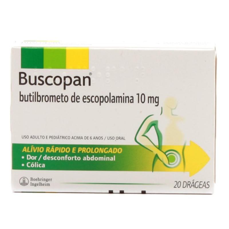 Foto 1 - Buscopan com 20 drágeas