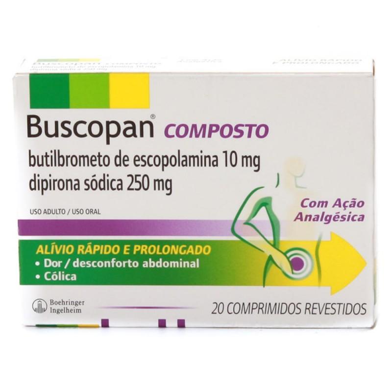 Foto 1 - Buscopan composto com 20 comprimidos