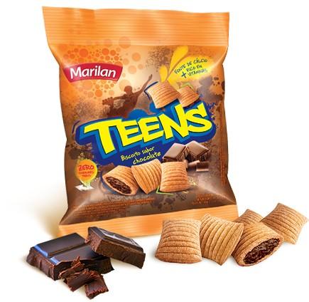 Foto 1 - Biscoito Marilan Teens Chocolate c/40gr