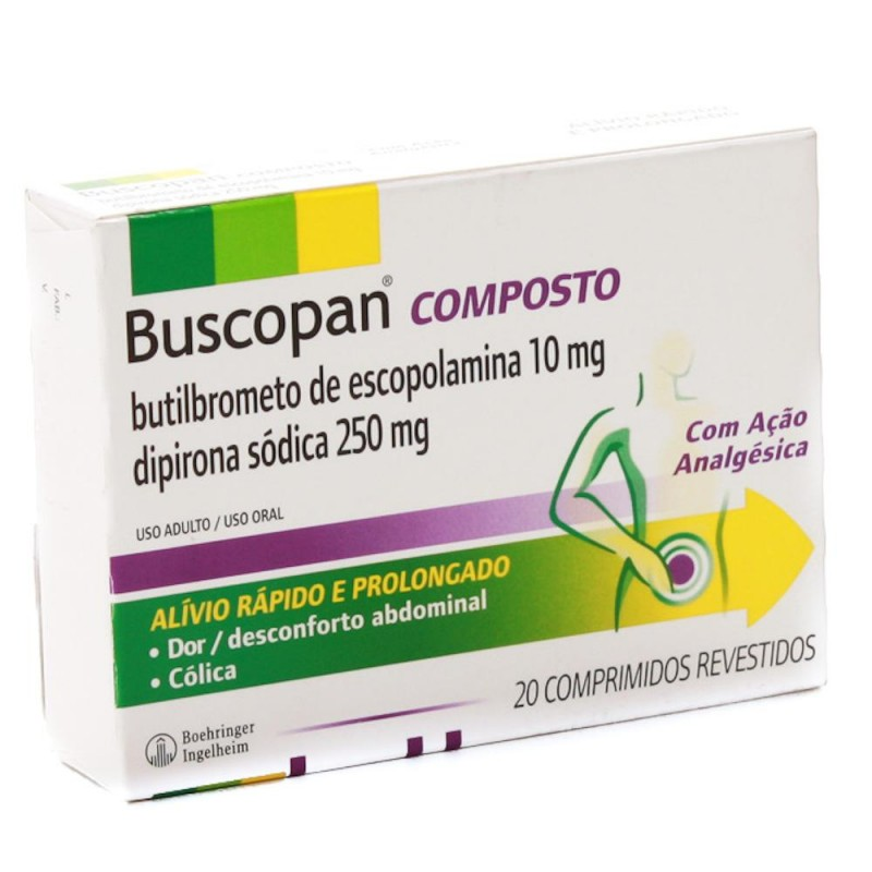 Foto2 - Buscopan composto com 20 comprimidos