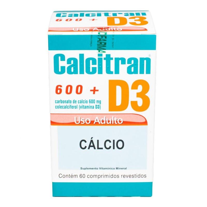 Foto 1 - Calcitran D3 com 60 Comprimidos