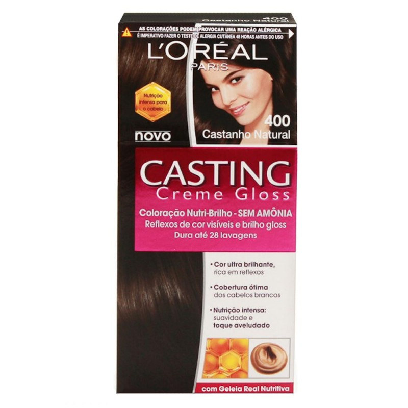 Foto 1 - Tintura Casting L\'oréal Creme Gloss Castanho Natural sem Amônia 400