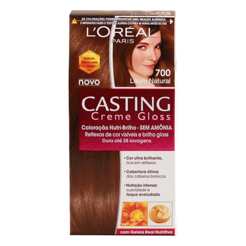 Foto 1 - Tintura Casting L\'oréal Creme Gloss Louro Natural sem Amônia 700