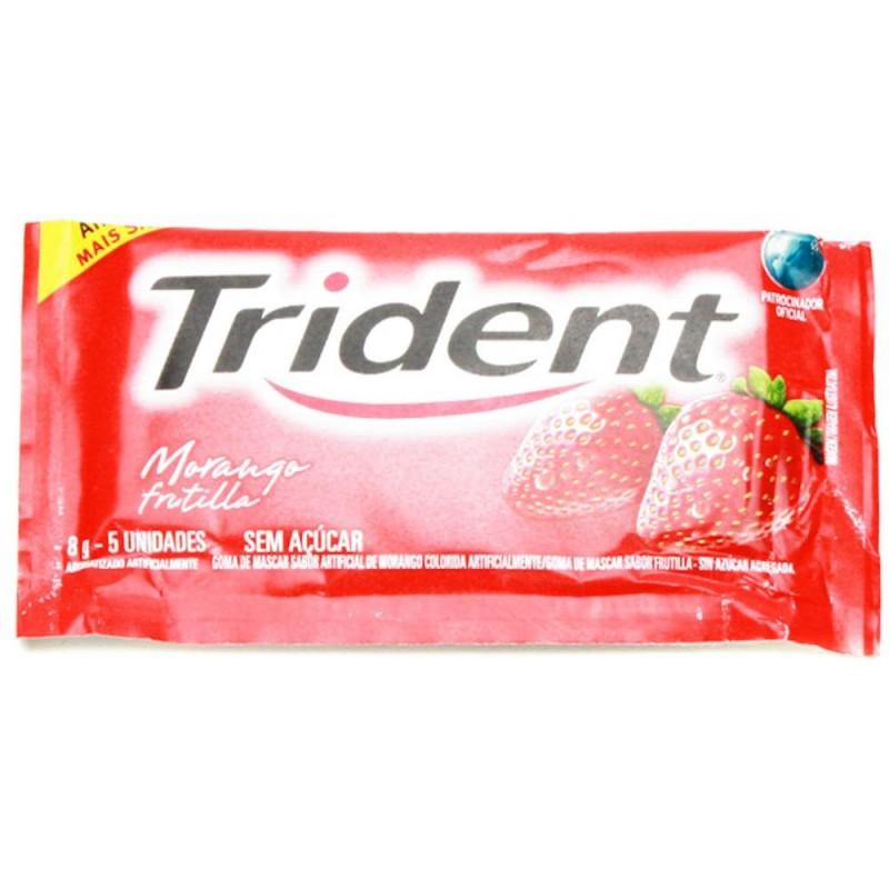 Imagem do produto Goma de Mascar Trident sem Açúcar Morango 8,5g