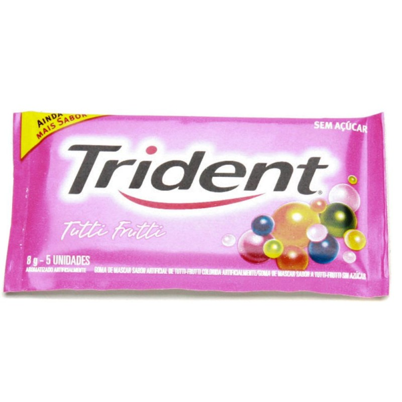 Foto 1 - Goma de Mascar Trident sem Açúcar Tutti Frutti