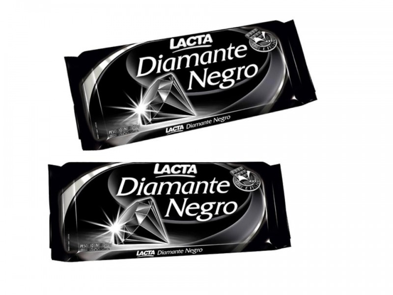 Foto 1 - Chocolate Lacta Diamante Negro Chocolate ao Leite com Crocante 25g