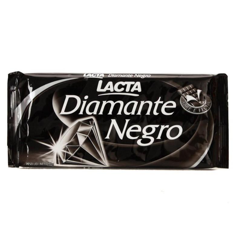 Foto 1 - Chocolate Lacta Diamante Negro Chocolate ao Leite com Crocante 170g