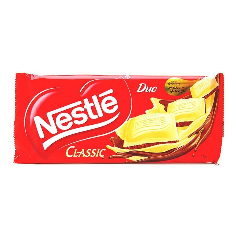 Foto 1 - Chocolate Nestlé Classic Duo Chocolate com Leite e Chocolate Branco 170g