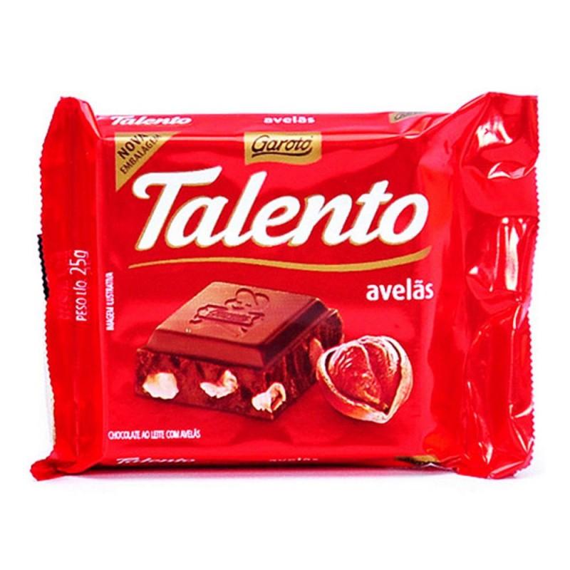 Foto 1 - Chocolate Garoto Talento Chocolate ao Leite com Avelãs 25g