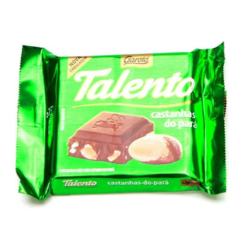 Foto 1 - Chocolate Garoto Talento Castanha do Pará 25g