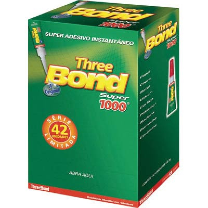 Foto 1 - Cola Three Bond 1000 Embalagem SM 2g Embalagem com 42 Unidades