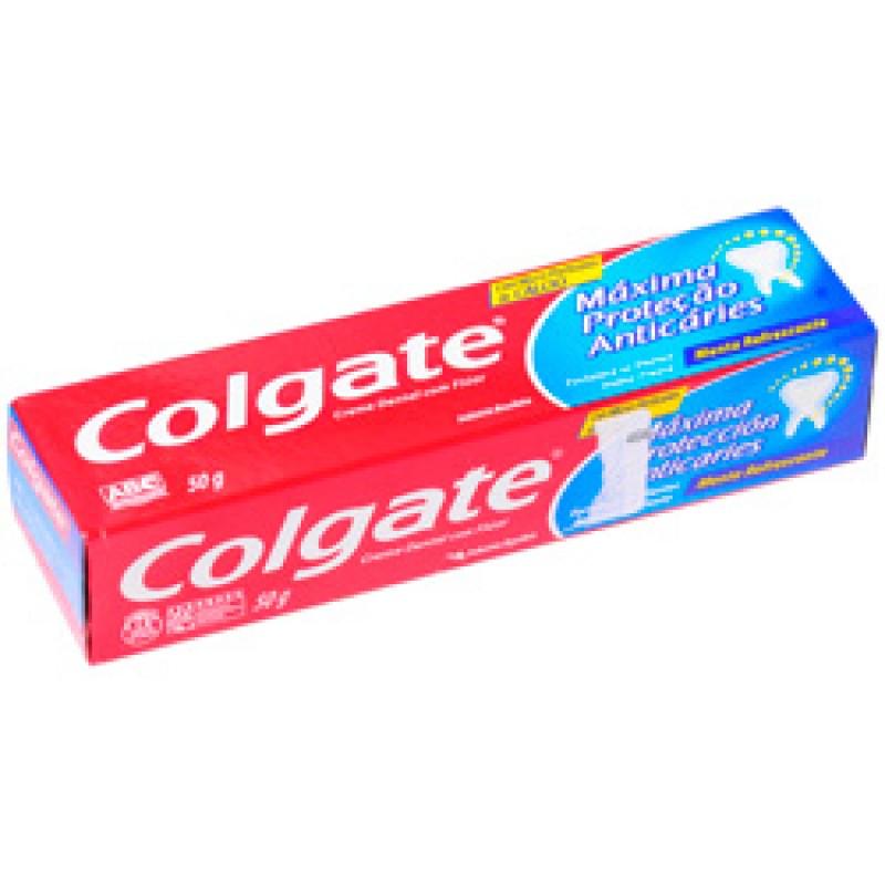 Foto 1 - Creme Dental Colgate 50 Gramas Máxima Proteção