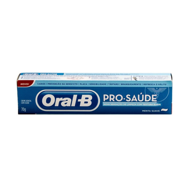Foto 1 - Creme Dental Oral B Pró- Saúde Menta Suave 70g
