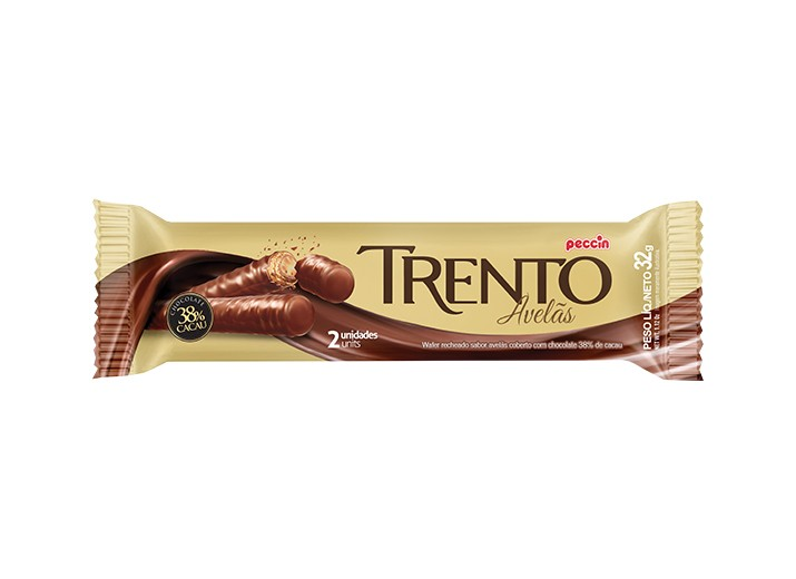 Foto 1 - Chocolate Wafer Trento Avelãs