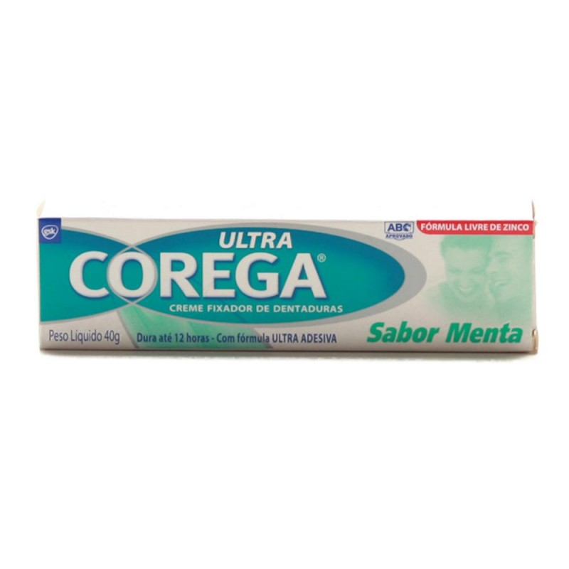 Foto 1 - Corega ultra creme fixador sabor menta com 40 gramas