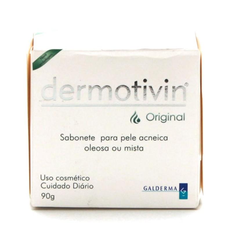 Foto 1 - Dermotivin Original Sabonete em Barra para Pele Acneica,Oleosa ou Mista com 90g