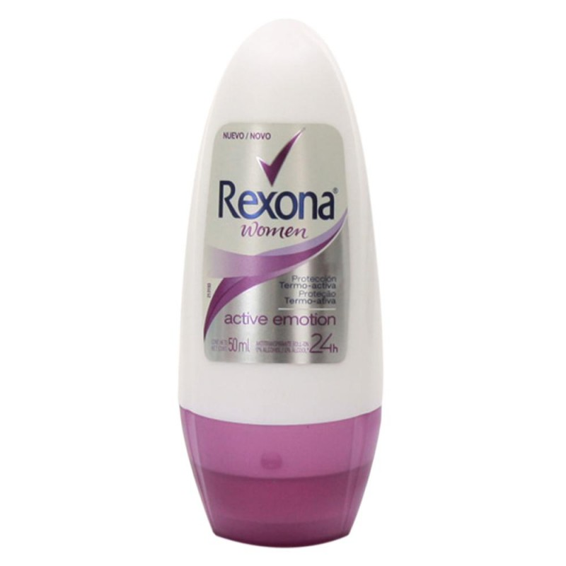 Foto 1 - Desodorante Rexona Roll-On Women Antitranspirante Active Emotion 24 Horas 50ml