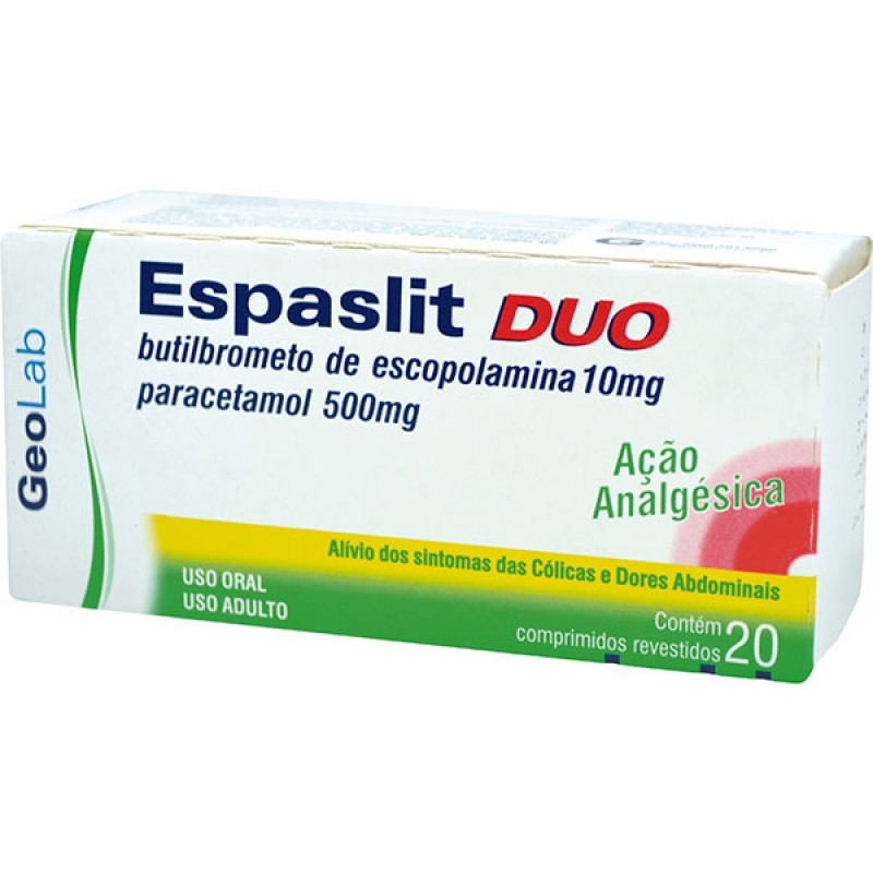 Imagem do produto Espaslit Duo 500 10mg c/20cp