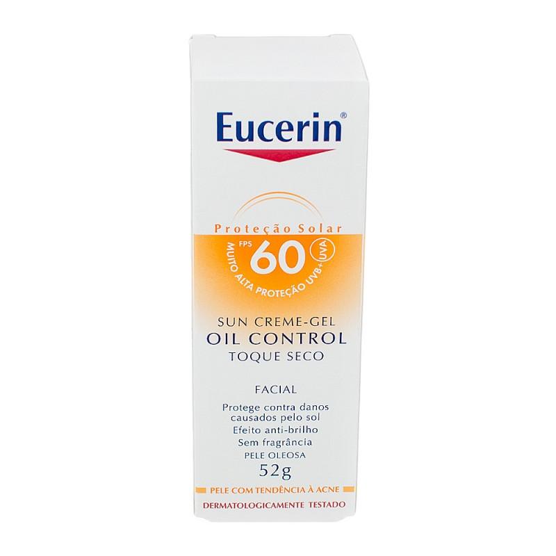 Foto 1 - Protetor Solar Eucerin Sun Oil Control FPS60 c/52gr