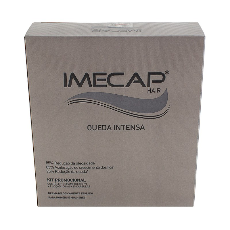 Foto 1 - Imecap Hair Queda Intensa c/Shampoo 300ml Loção 100ml 30cps