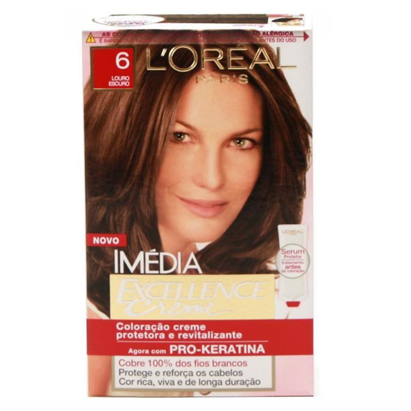 Foto 1 - Tintura Imédia Excellence Creme L'oréal Louro Escuro 6