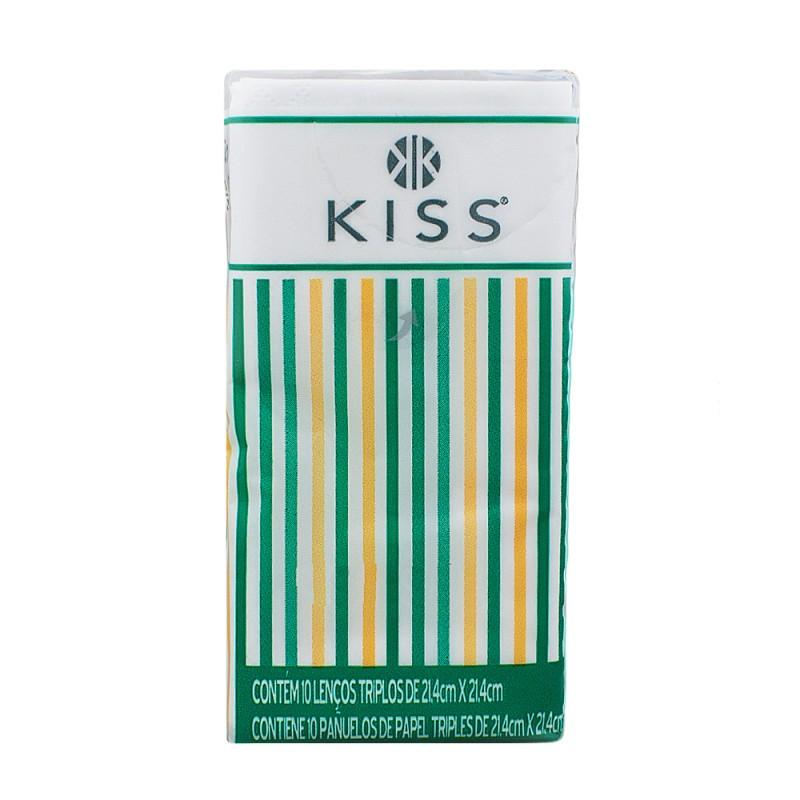 Foto 1 - Lenço de Papel Kiss Bolso c/10 Unidades Embalagem Sortida