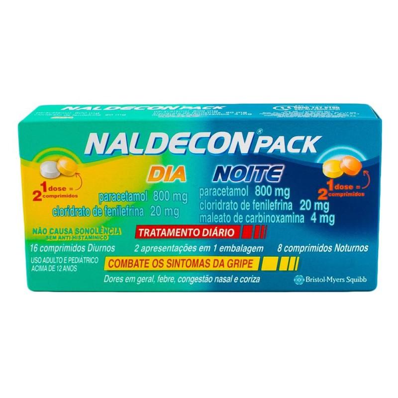 Foto 1 - Naldecon Pack Dia e Noite com 24 Comprimidos