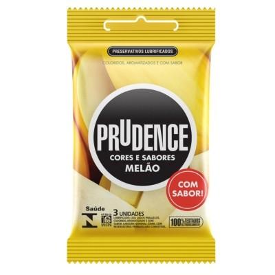 Foto 1 - Preservativo Prudence Cores e Sabores Melão com 3unidades