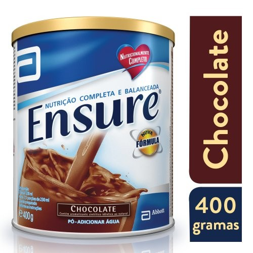 Foto 1 - Ensure Pó Sabor Chocolate 400g