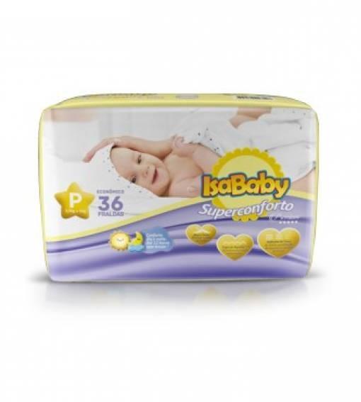 Foto 1 - Fralda Isababy Premium Jumbo Tamanho P 36unidades