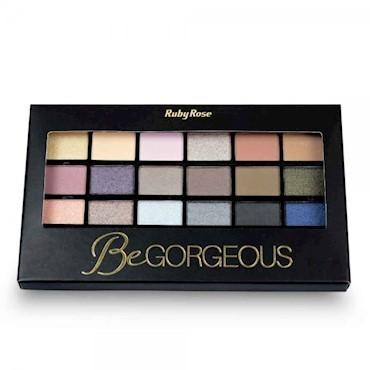 Foto 1 - Paleta de Sombra BeGorgeous 18cores + 1primer Ruby Rose