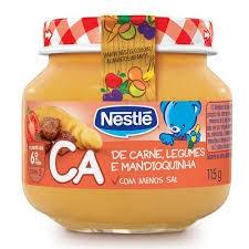 Foto 1 - Papinha Nestlé de Legumes com Carne com 115g