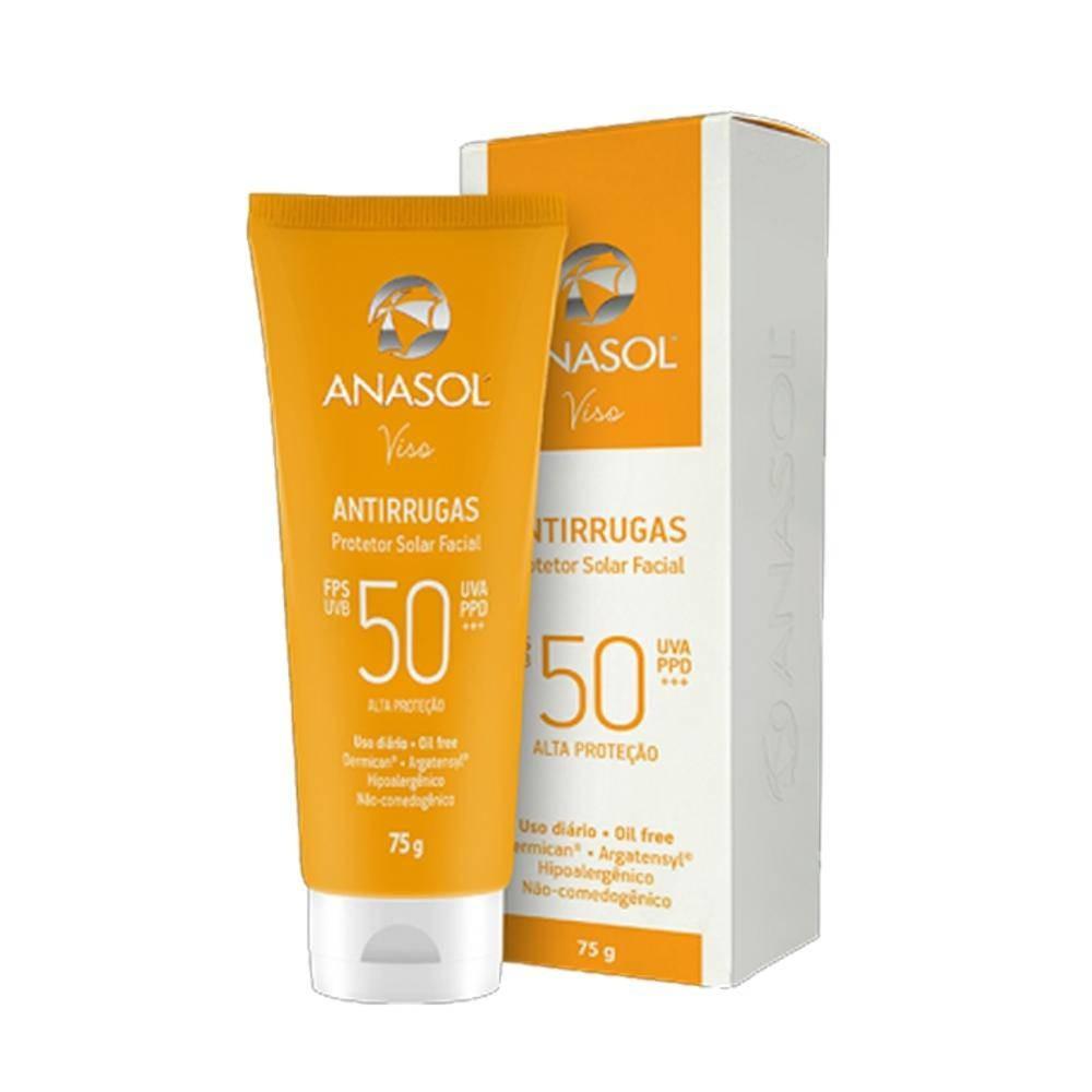 Foto 1 - Protetor Solar Anasol Facial Antirrugas Fps50 com 75g