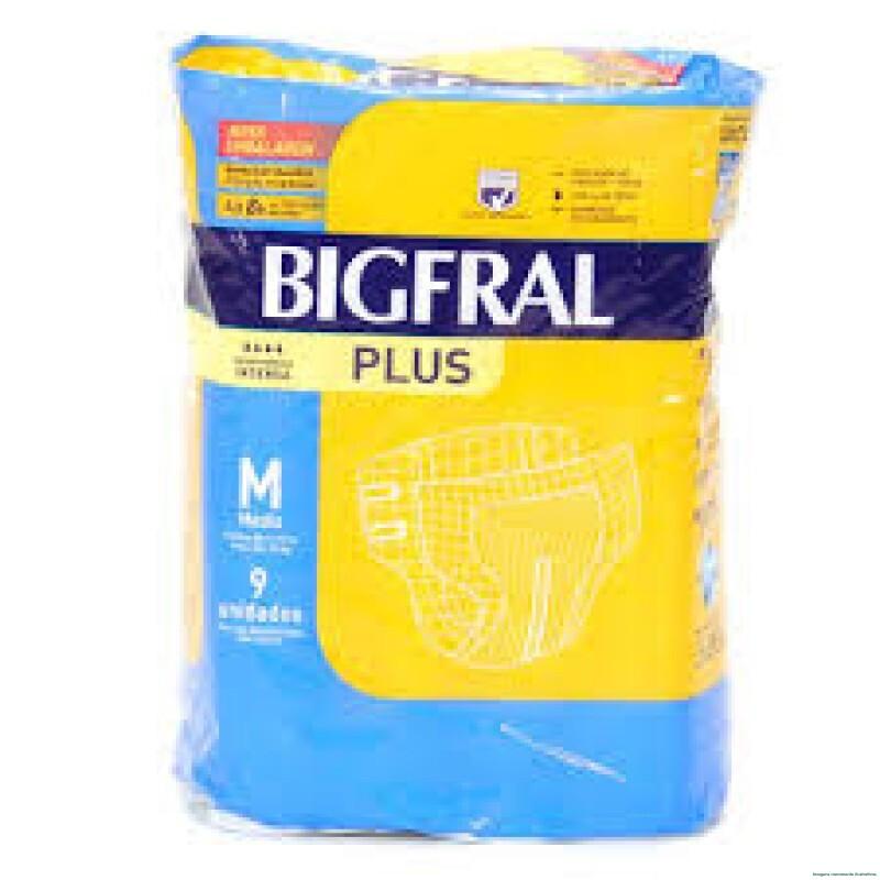 Imagem do produto Fralda Geriátrica Bigfral Plus Média com 9 Unidades