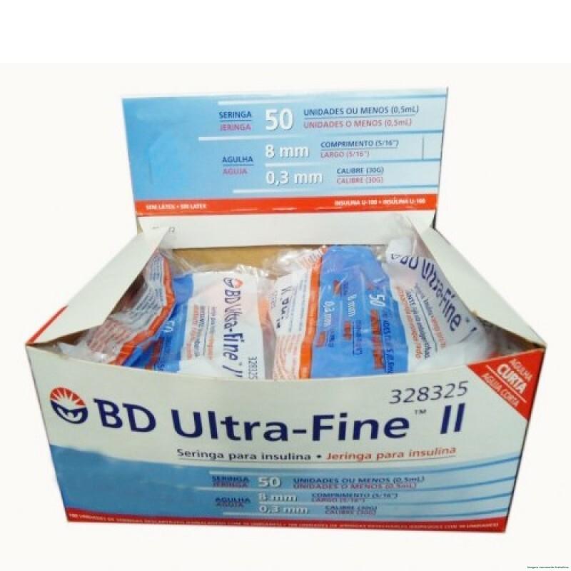 Imagem do produto Seringa BD Ultra-Fine Insulina 50U Agulha Curta 8mm com 10 Unidades