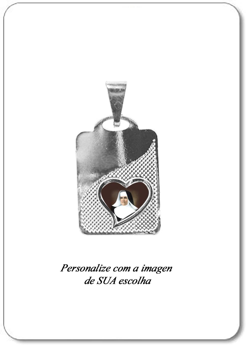 Foto 1 - Item 199 - Medalha Placa com Coração