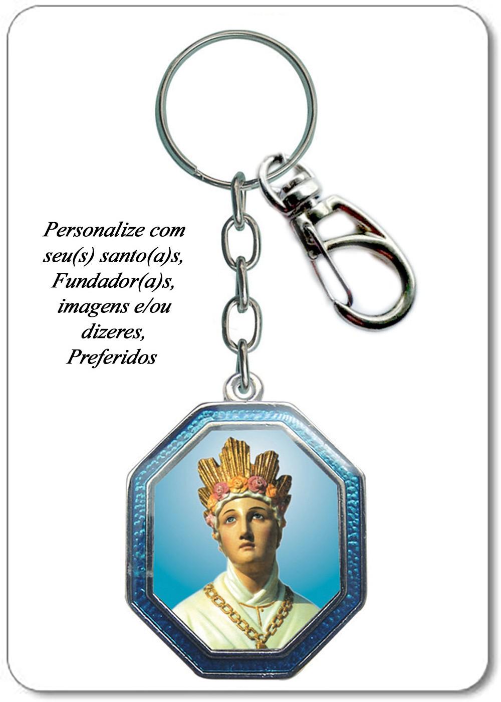 Foto2 - Item 1- Chaveiro Vaticano - Octogonal BRILHANTE